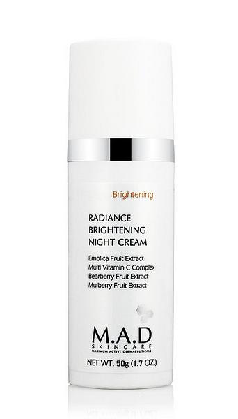 Radiance brightening night cream —  Ночной восстанавливающий крем выравнивающий тон кожи