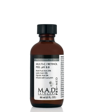 Multi-C / Retinol Peel – MFAs 25%, Lactic acid 10%, Glycolic Acid 5% and Retinol 1% ph-3,0 — Кислотный пилинг-бустер « Multi-C / Retinol Peel »